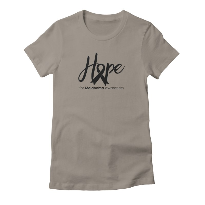 Hope - For Melanoma Awareness Women's T-Shirt by Crystalline Light