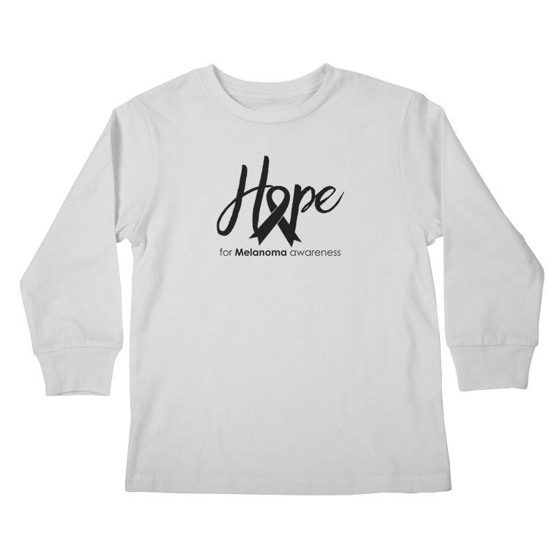 Hope - For Melanoma Awareness Kids Longsleeve T-Shirt by Crystalline Light
