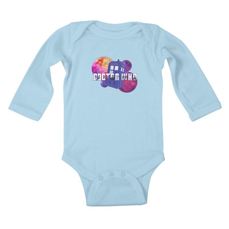 Timey Wimey Kids Baby Longsleeve Bodysuit by Cryste's Artist Shop