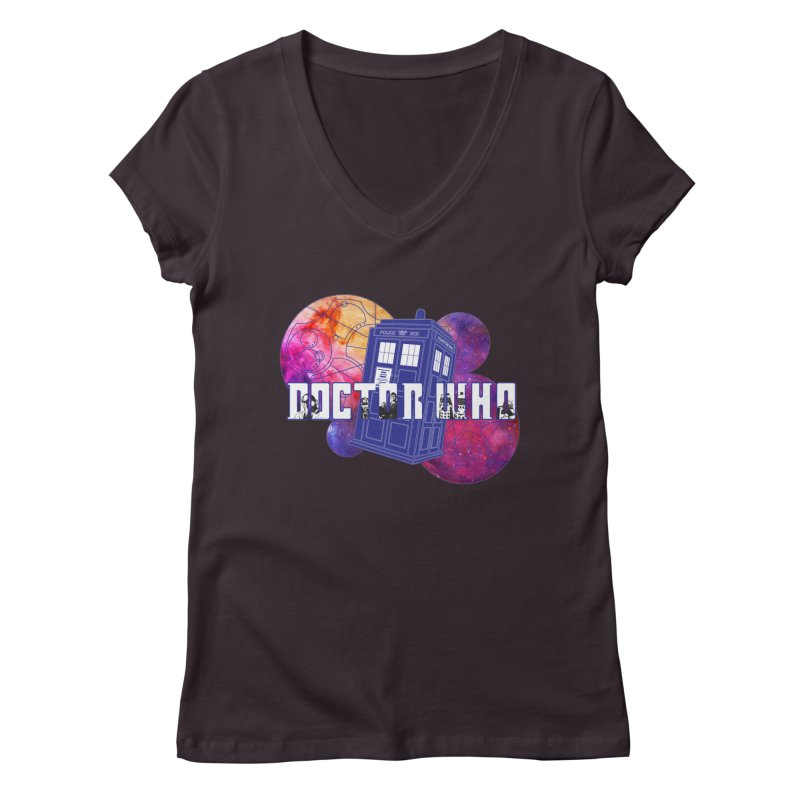 Timey Wimey Women's Regular V-Neck by Cryste's Artist Shop