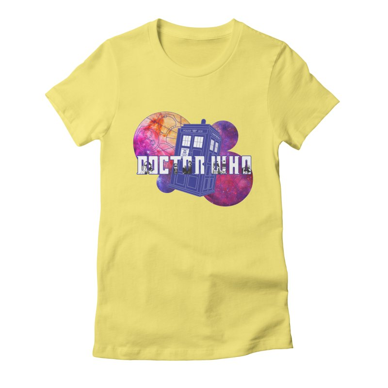 Timey Wimey Women's Fitted T-Shirt by Cryste's Artist Shop