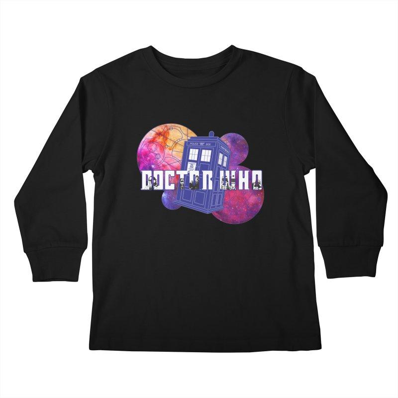 Timey Wimey Kids Longsleeve T-Shirt by Cryste's Artist Shop