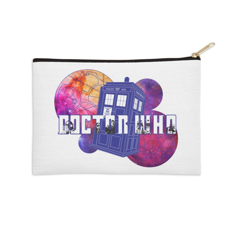 Timey Wimey Accessories Zip Pouch by Cryste's Artist Shop