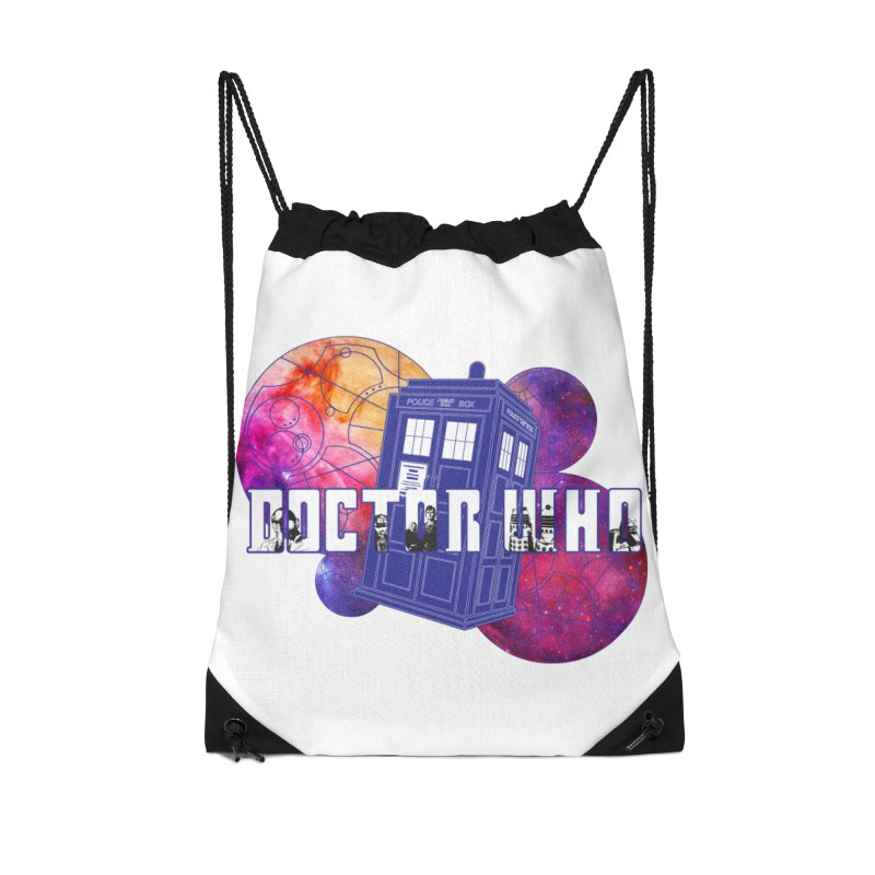 Timey Wimey Accessories Drawstring Bag Bag by Cryste's Artist Shop