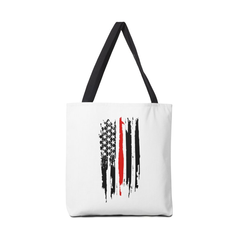 Fire Fighter USA Flag Accessories Tote Bag Bag by Cryste's Artist Shop