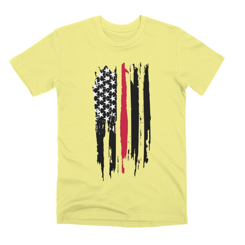Fire Fighter USA Flag Men's Premium T-Shirt by Cryste's Artist Shop