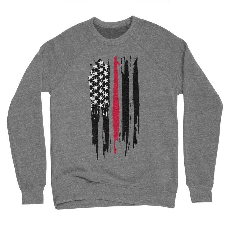 Fire Fighter USA Flag Men's Sponge Fleece Sweatshirt by Cryste's Artist Shop