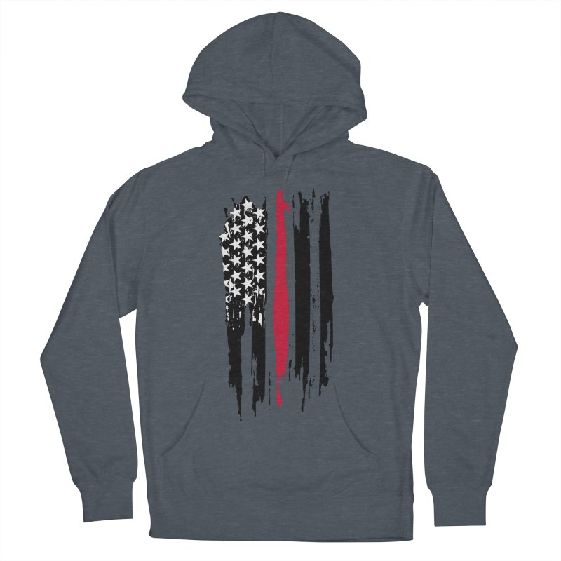 Fire Fighter USA Flag Men's French Terry Pullover Hoody by Cryste's Artist Shop