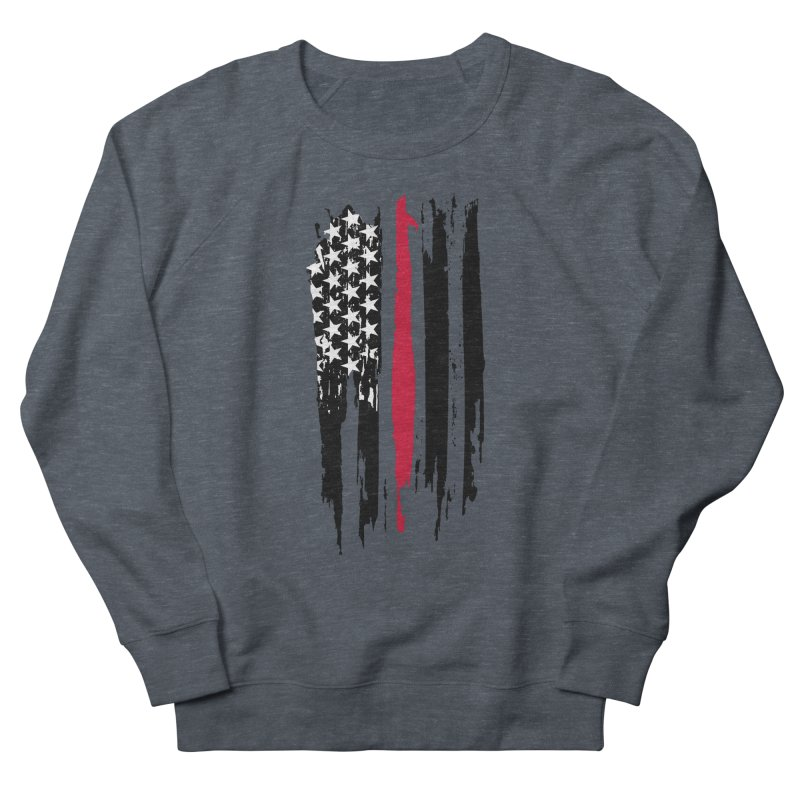 Fire Fighter USA Flag Men's French Terry Sweatshirt by Cryste's Artist Shop
