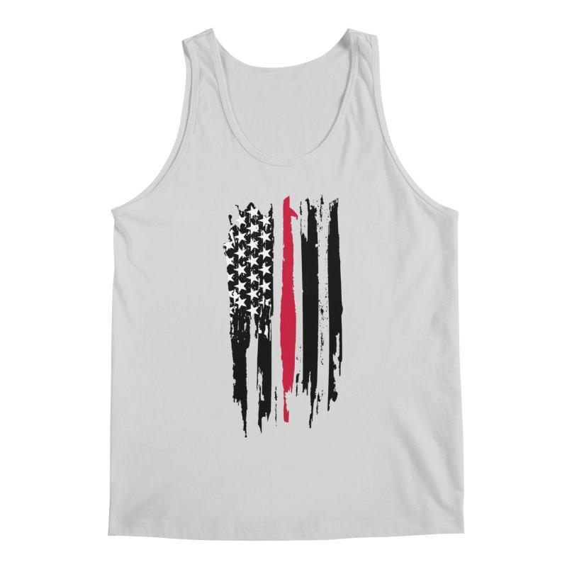 Fire Fighter USA Flag Men's Regular Tank by Cryste's Artist Shop