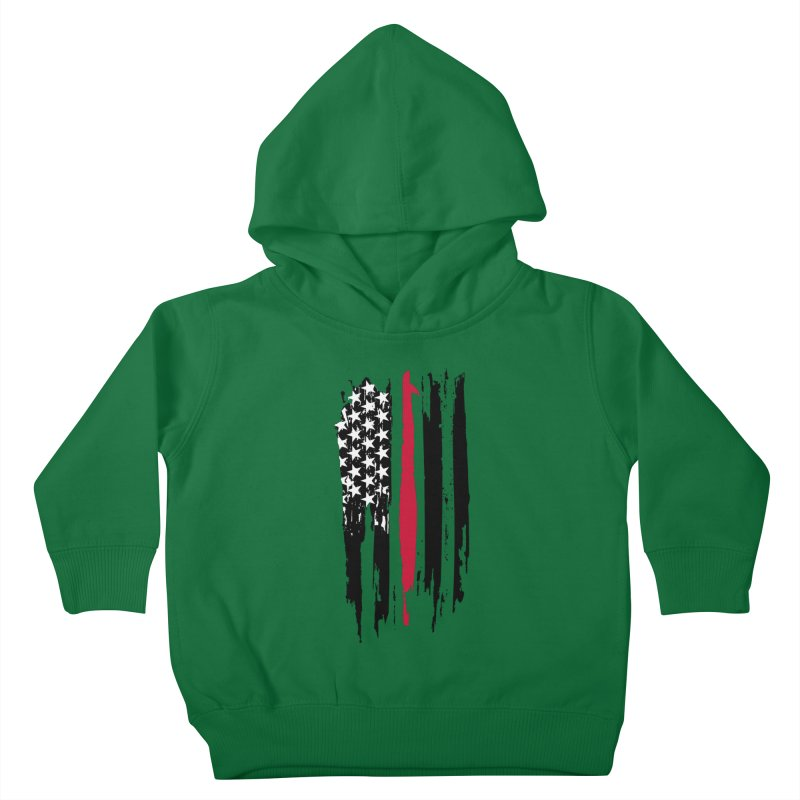 Fire Fighter USA Flag Kids Toddler Pullover Hoody by Cryste's Artist Shop