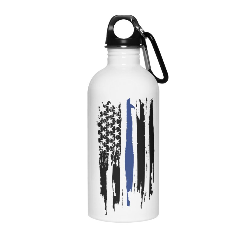 Police Flag Accessories Water Bottle by Cryste's Artist Shop