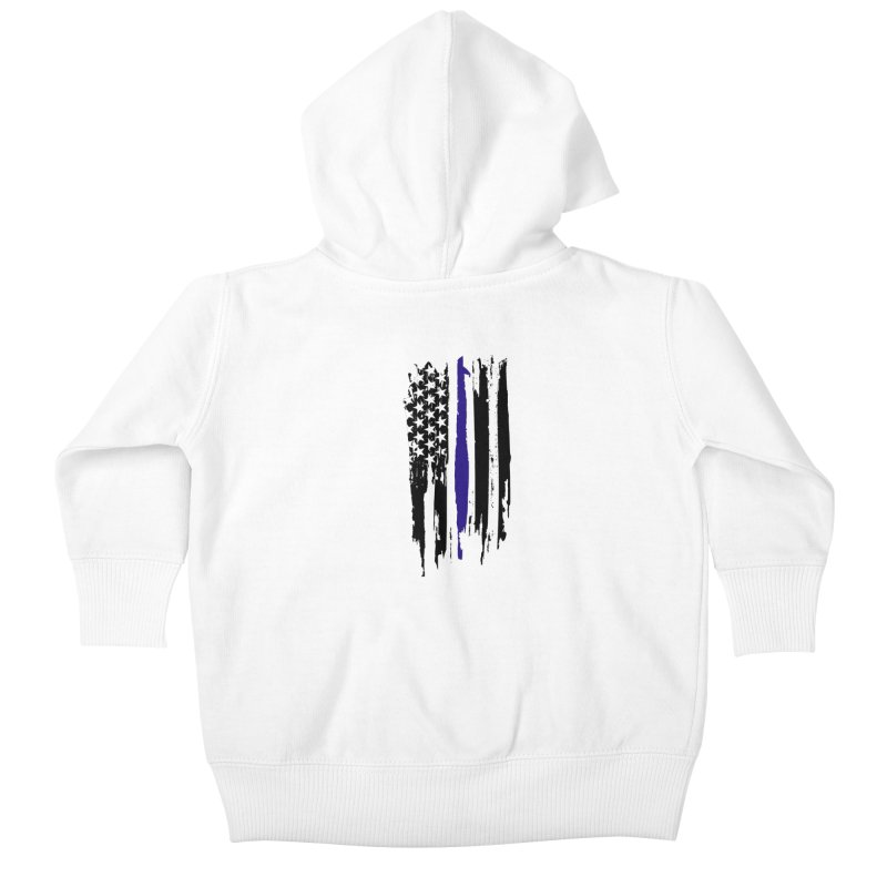 Police Flag Kids Baby Zip-Up Hoody by Cryste's Artist Shop