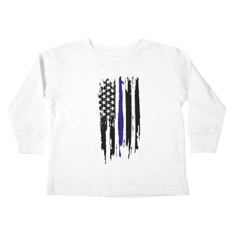 Police Flag Kids Toddler Longsleeve T-Shirt by Cryste's Artist Shop