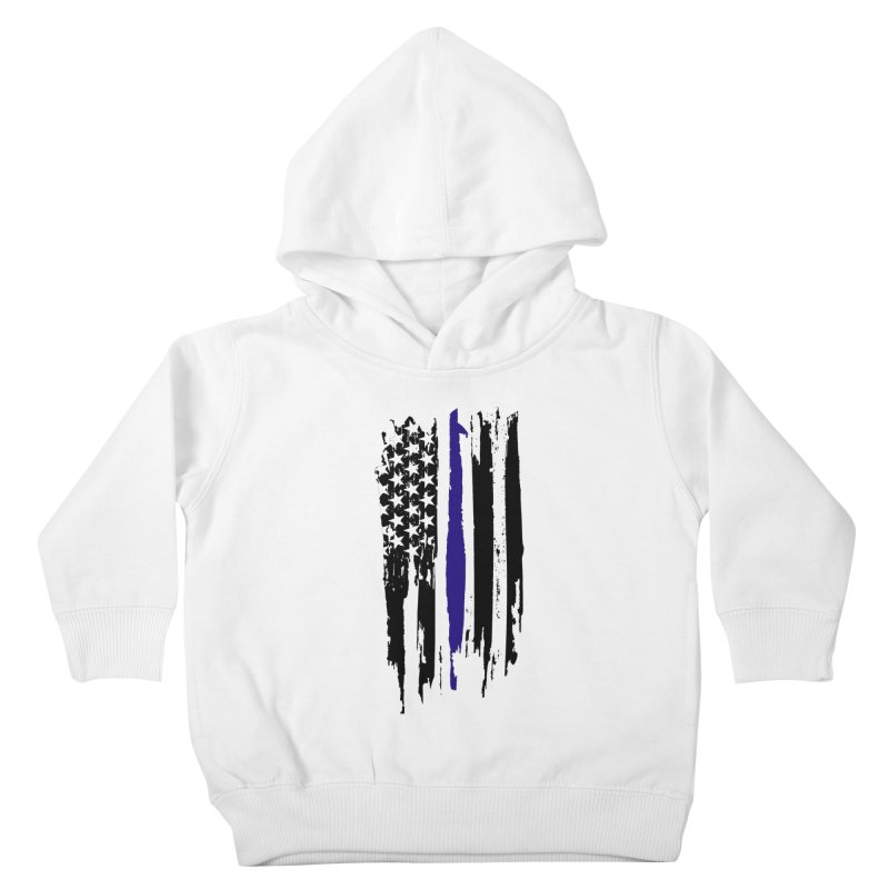 Police Flag Kids Toddler Pullover Hoody by Cryste's Artist Shop