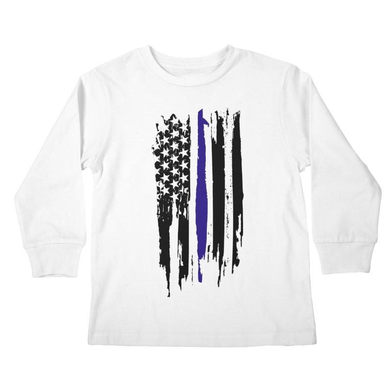 Police Flag Kids Longsleeve T-Shirt by Cryste's Artist Shop