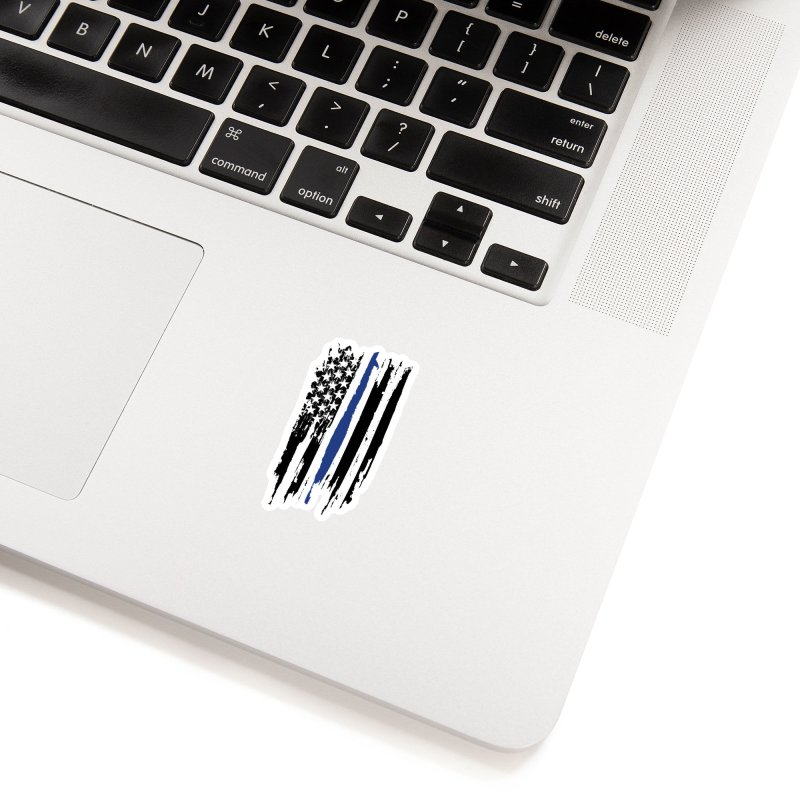 Police Flag Accessories Sticker by Cryste's Artist Shop