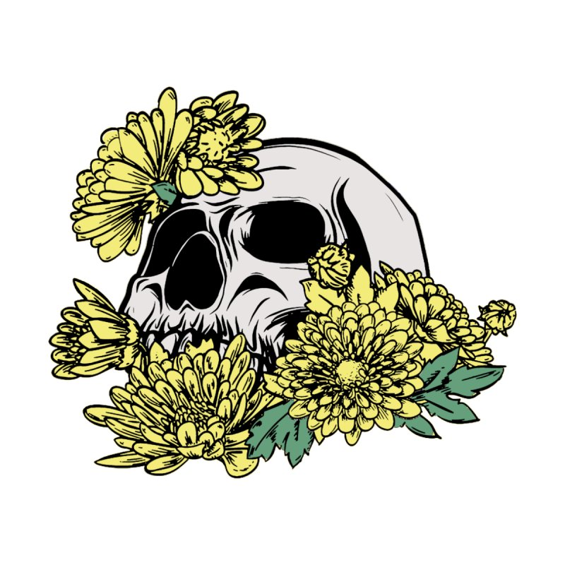 Beautiful Death Yellow Accessories Sticker by Cryste's Artist Shop