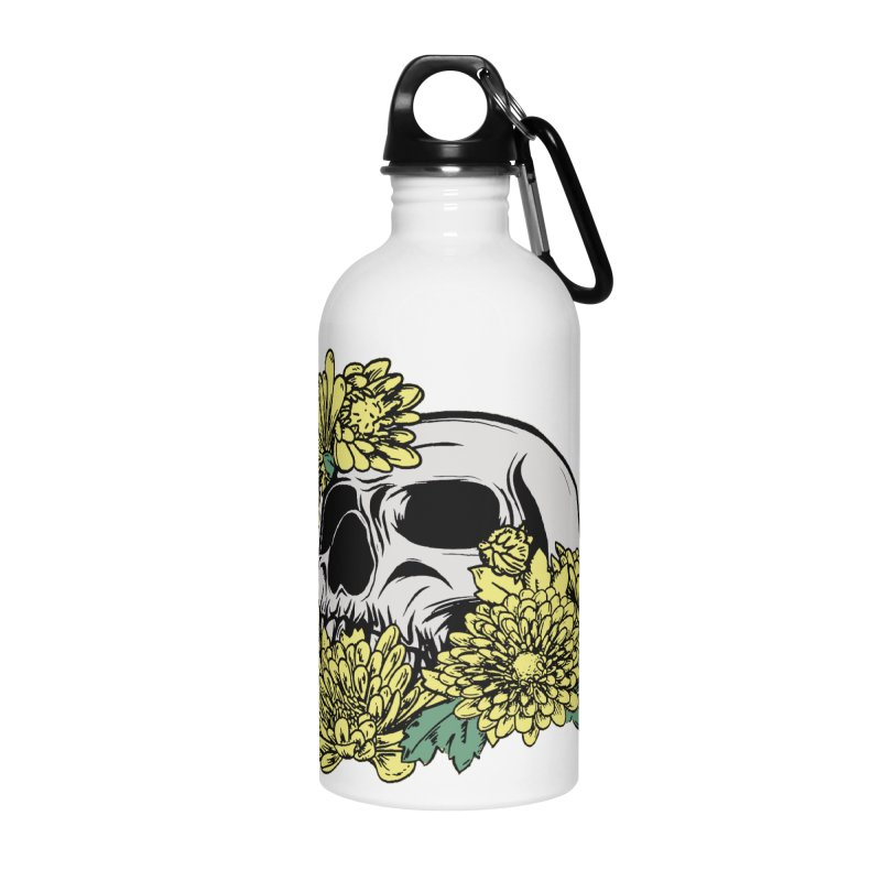 Beautiful Death Yellow Accessories Water Bottle by Cryste's Artist Shop