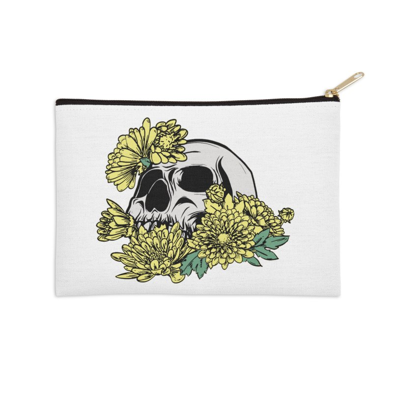 Beautiful Death Yellow Accessories Zip Pouch by Cryste's Artist Shop
