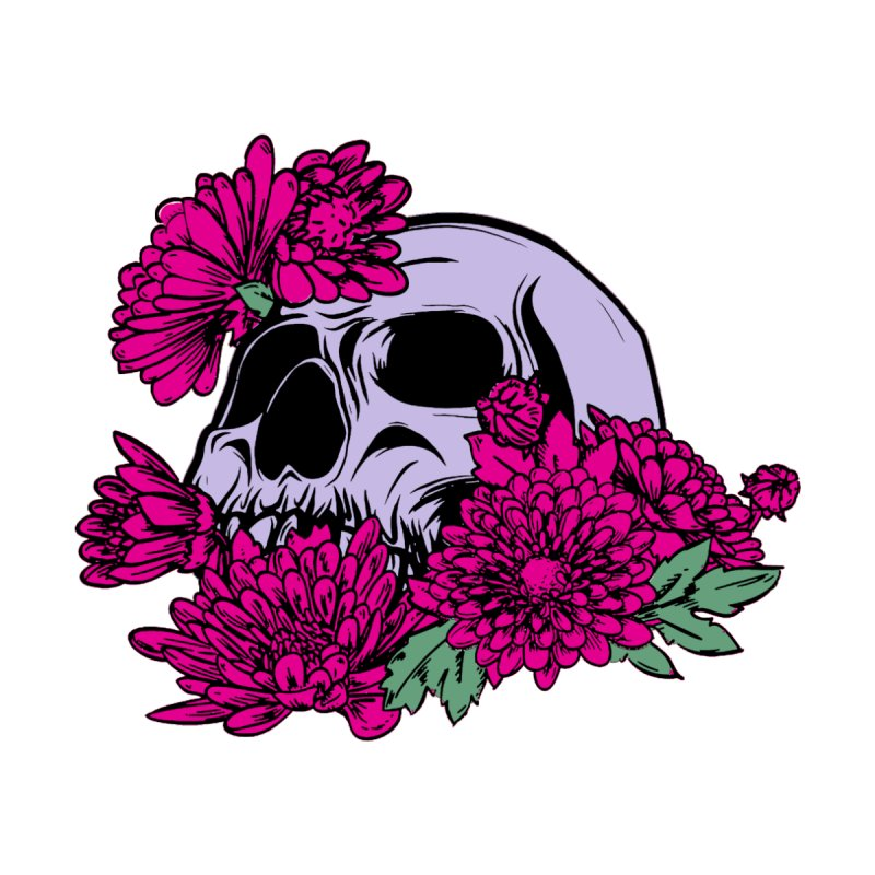 Beautiful Death Pink Accessories Sticker by Cryste's Artist Shop