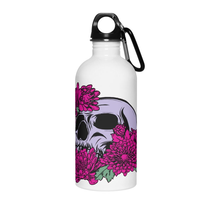 Beautiful Death Pink Accessories Water Bottle by Cryste's Artist Shop