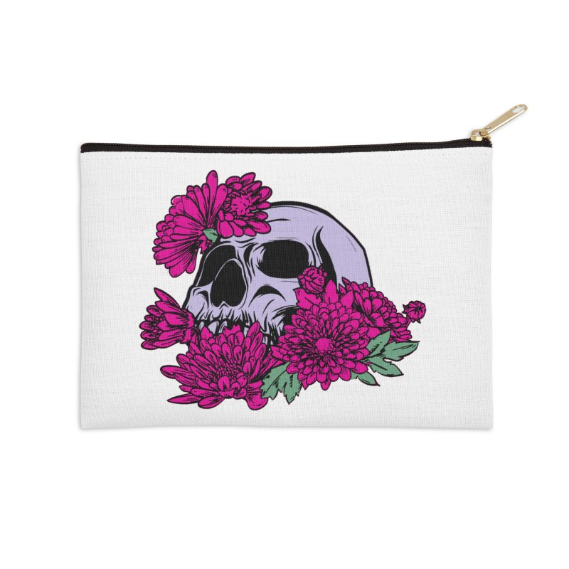 Beautiful Death Pink Accessories Zip Pouch by Cryste's Artist Shop