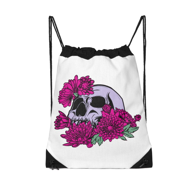 Beautiful Death Pink Accessories Drawstring Bag Bag by Cryste's Artist Shop