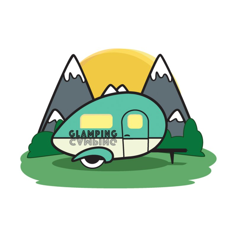 Glamping!! Men's T-Shirt by Cryste's Artist Shop