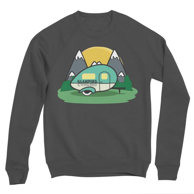 Glamping!! Men's Sponge Fleece Sweatshirt by Cryste's Artist Shop
