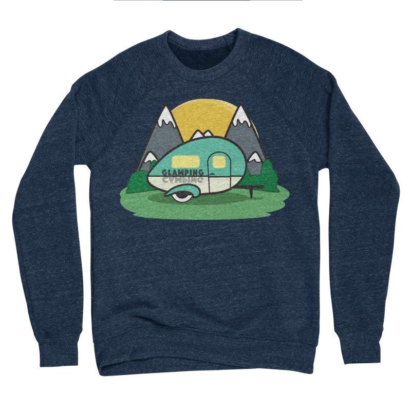 Glamping!! Women's Sponge Fleece Sweatshirt by Cryste's Artist Shop