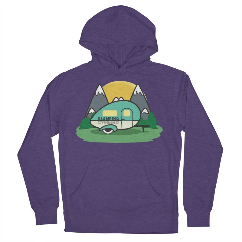 Glamping!! Men's French Terry Pullover Hoody by Cryste's Artist Shop