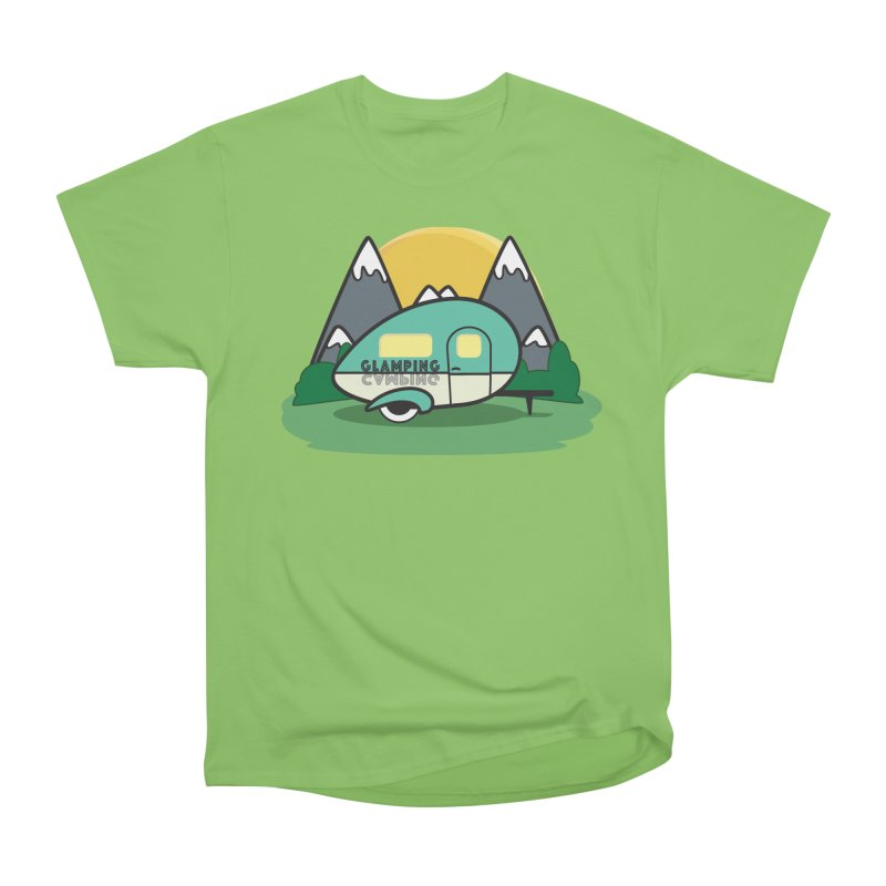 Glamping!! Women's Heavyweight Unisex T-Shirt by Cryste's Artist Shop