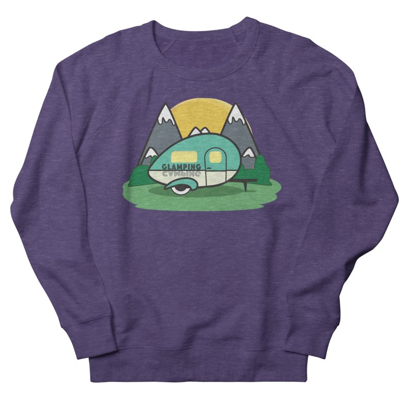 Glamping!! Men's French Terry Sweatshirt by Cryste's Artist Shop