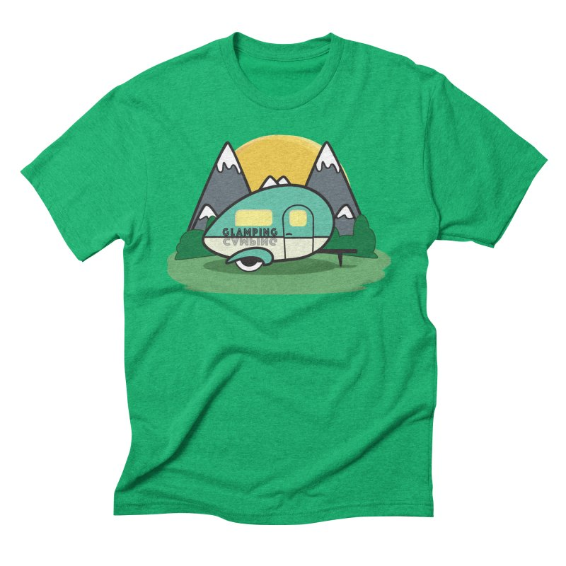 Glamping!! Men's Triblend T-Shirt by Cryste's Artist Shop