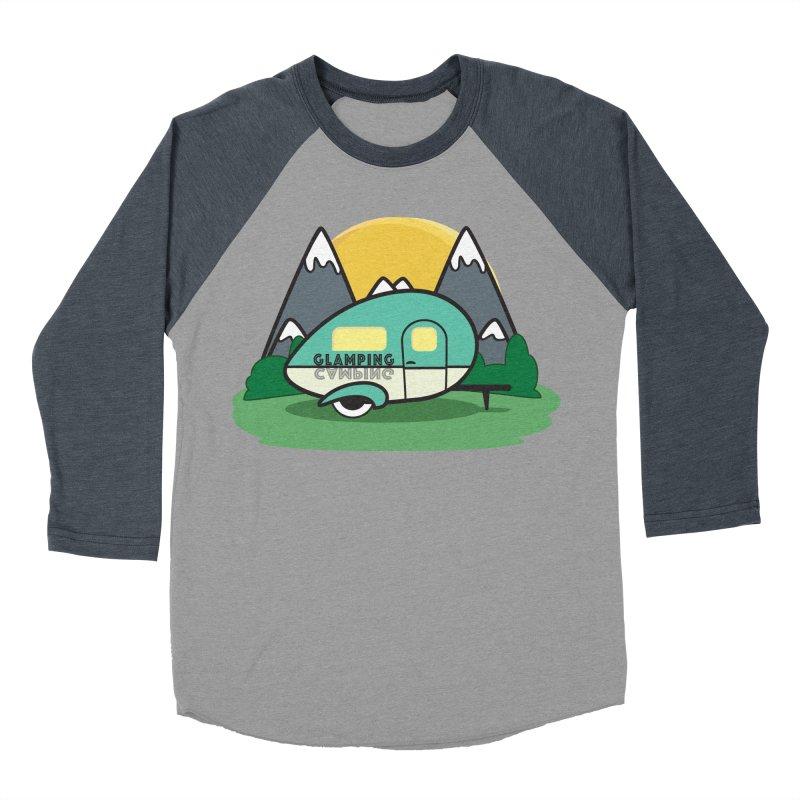 Glamping!! Men's Baseball Triblend Longsleeve T-Shirt by Cryste's Artist Shop