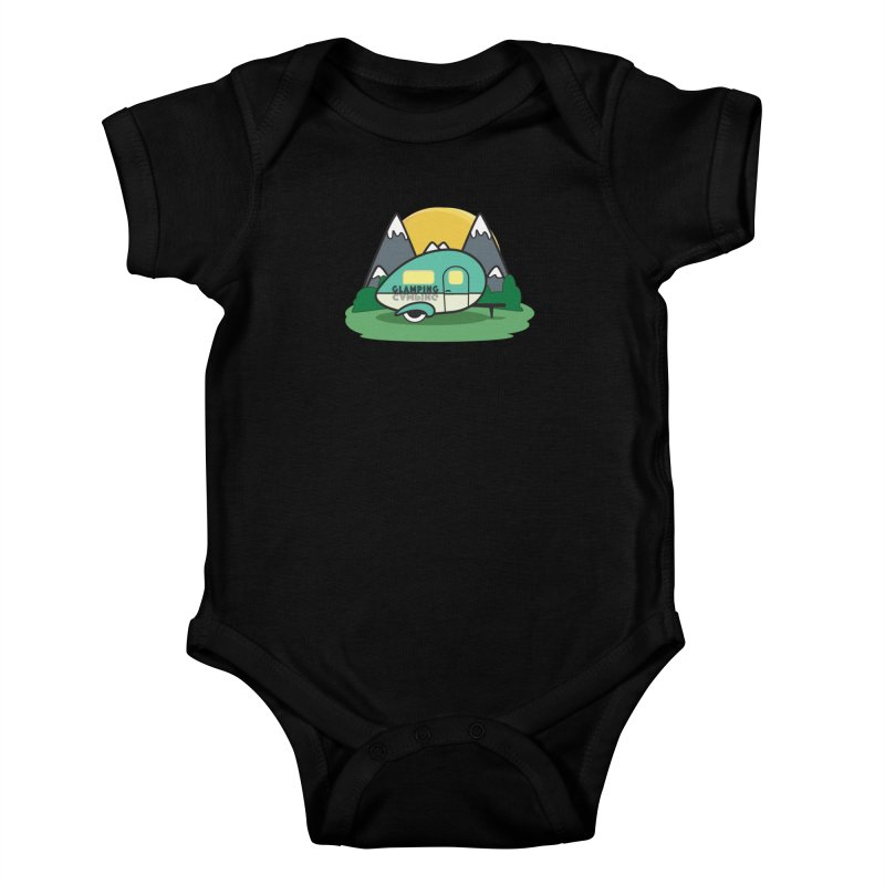 Glamping!! Kids Baby Bodysuit by Cryste's Artist Shop