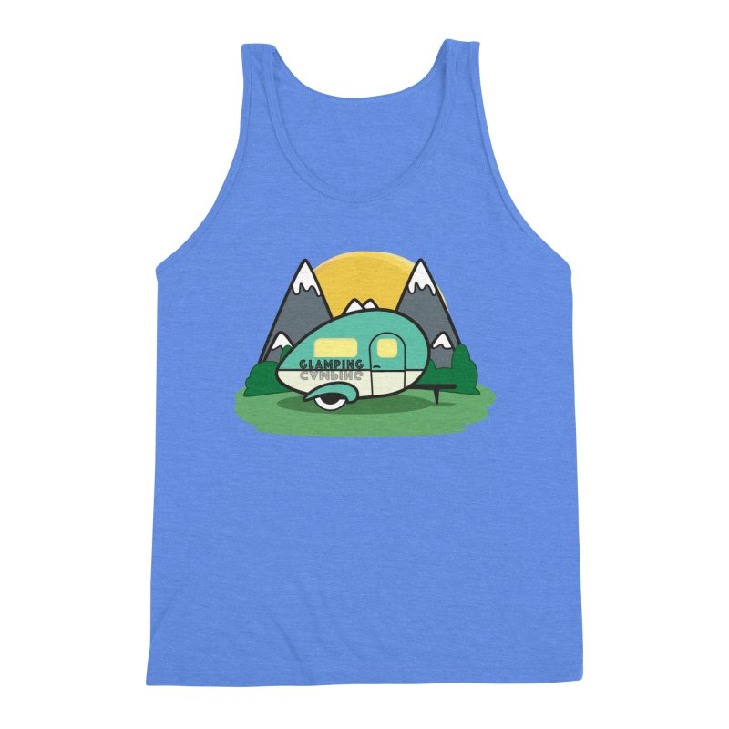 Glamping!! Men's Triblend Tank by Cryste's Artist Shop