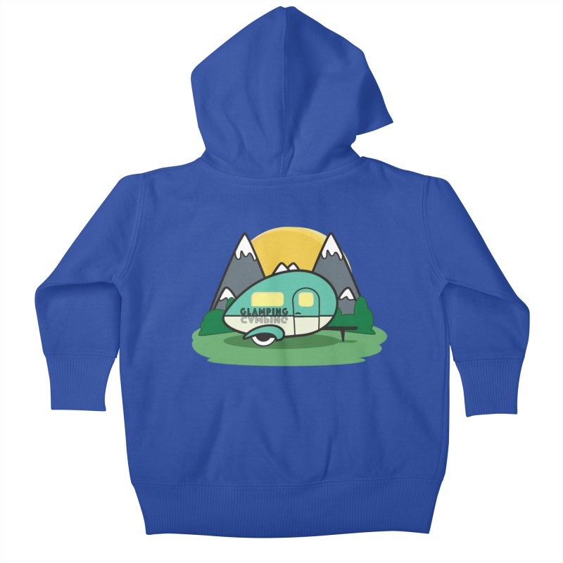 Glamping!! Kids Baby Zip-Up Hoody by Cryste's Artist Shop