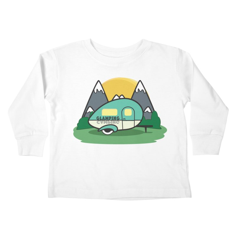 Glamping!! Kids Toddler Longsleeve T-Shirt by Cryste's Artist Shop