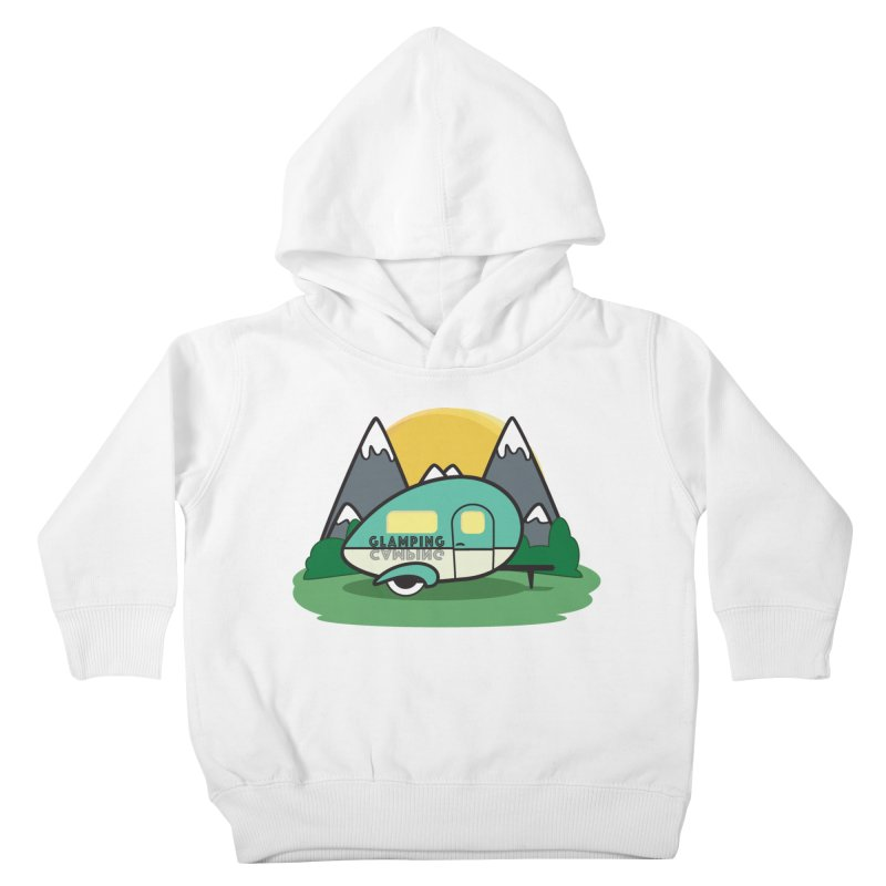 Glamping!! Kids Toddler Pullover Hoody by Cryste's Artist Shop