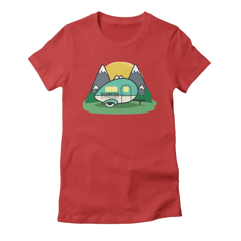Glamping!! Women's Fitted T-Shirt by Cryste's Artist Shop