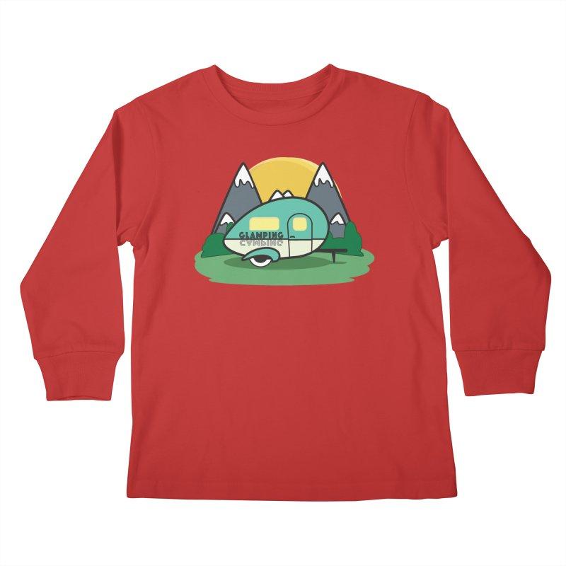 Glamping!! Kids Longsleeve T-Shirt by Cryste's Artist Shop