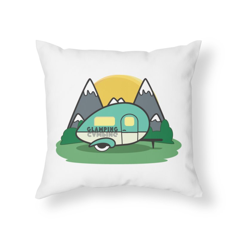 Glamping!! Home Throw Pillow by Cryste's Artist Shop