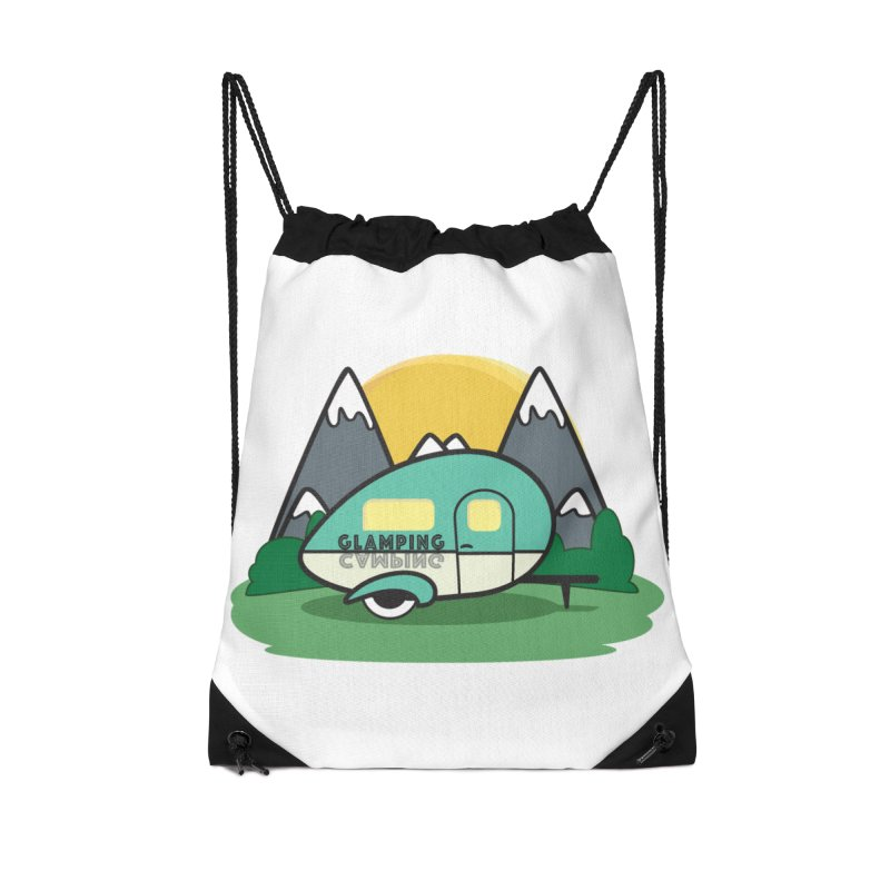 Glamping!! Accessories Drawstring Bag Bag by Cryste's Artist Shop