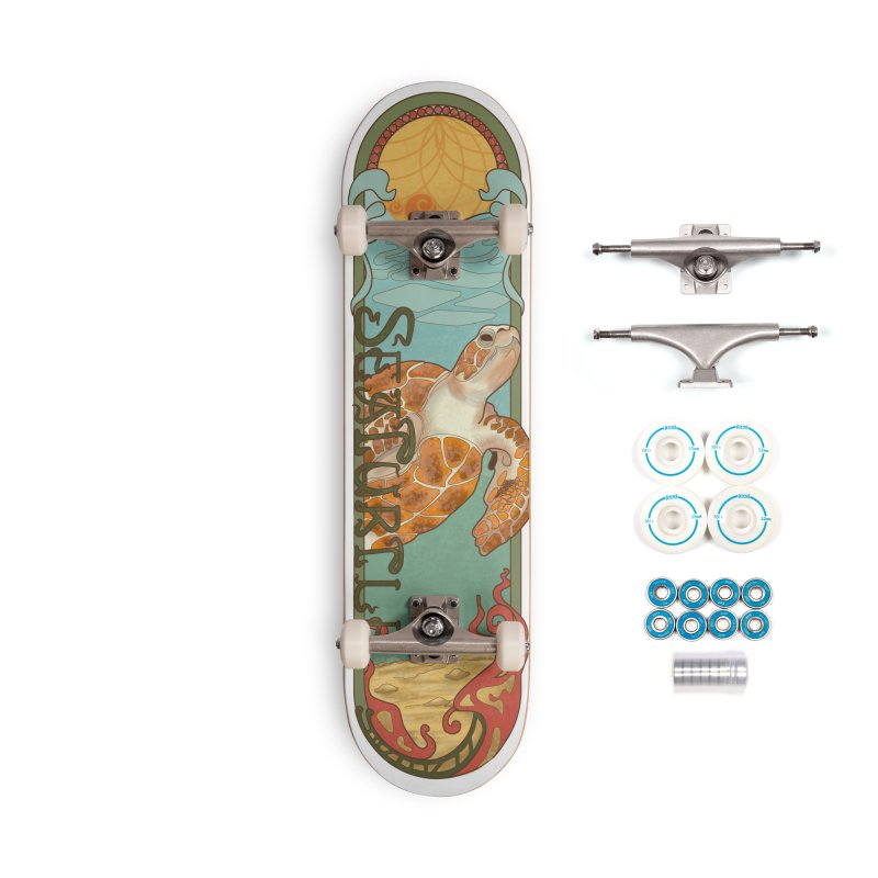 Sea Turtle_Sea Creatures Series Accessories Complete - Basic Skateboard by Cryste's Artist Shop