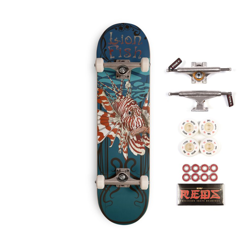 Lion Fish 3rd Board Sea Creature series Accessories Complete - Pro Skateboard by Cryste's Artist Shop