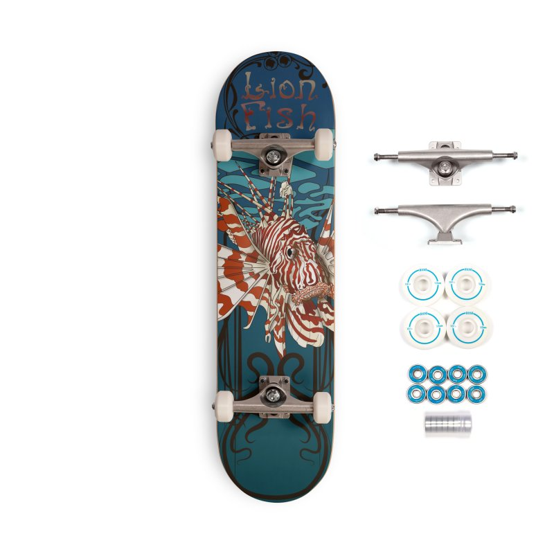 Lion Fish 3rd Board Sea Creature series Accessories Complete - Basic Skateboard by Cryste's Artist Shop