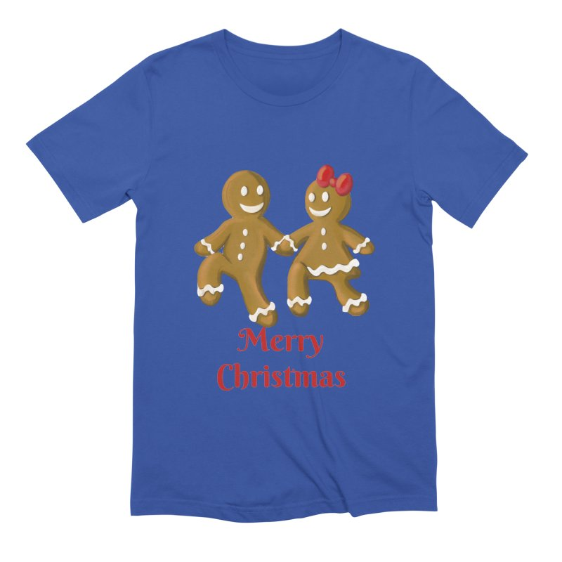 Gingerbread Christmas wish Men's T-Shirt by Cryste's Artist Shop