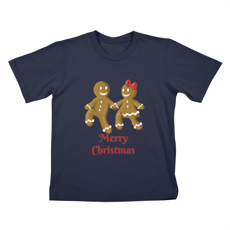 Gingerbread Christmas wish Kids T-Shirt by Cryste's Artist Shop
